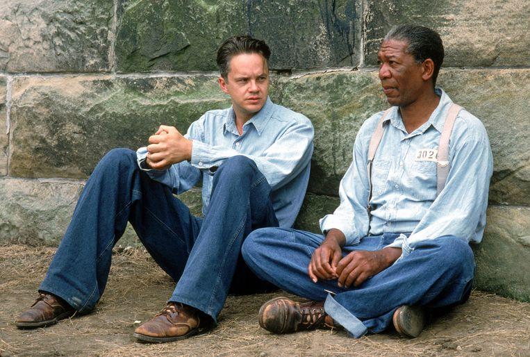 Tim Robbins & Morgan Freeman in The Shawshank Redemption.   Beeld