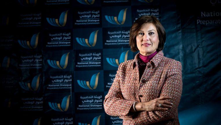 De Libische mensenrechtenactiviste Salwa Bugaighis in maart van dit jaar. Beeld AP