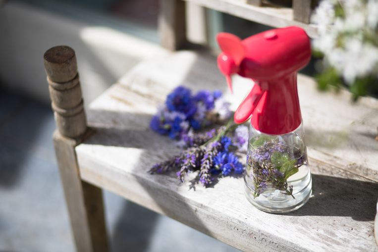 Spray met lavendel.