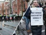 Politie veegt Museumplein leeg na illegale demonstratie