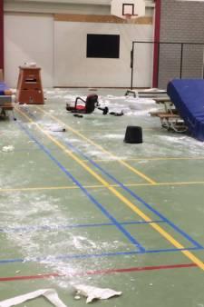 Vandalen richten ravage aan in gymzaal Berkel en Rodenrijs: 'Een grote pleurisbende'