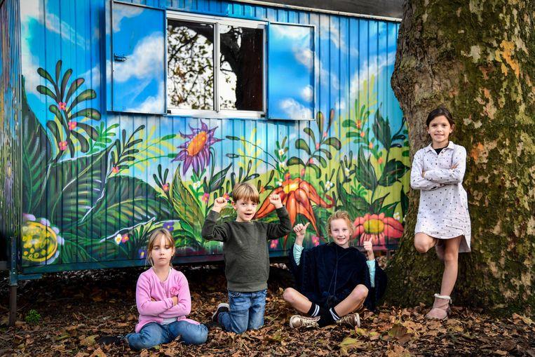 Kinderen dolblij met de nieuwste aanwinst van Leefschool 't Veertje