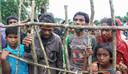 Rohingya-vluchtelingen in een opvangkamp.