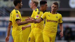 Sancho grote man bij Dortmund in 1-6-zege bij Paderborn, ook Thorgan Hazard scoort en laat scoren