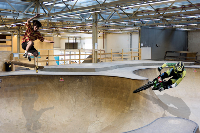 Urban sports in Area51 op Strijp-S in Eindhoven.
