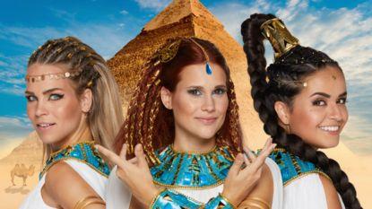 Zo zag je K3 nog nooit: Hanne, Marthe en Klaasje trekken naar Egypte in nieuwe film