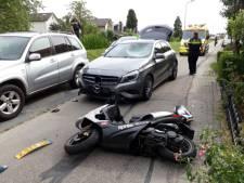 Scooterrijder gewond na aanrijding