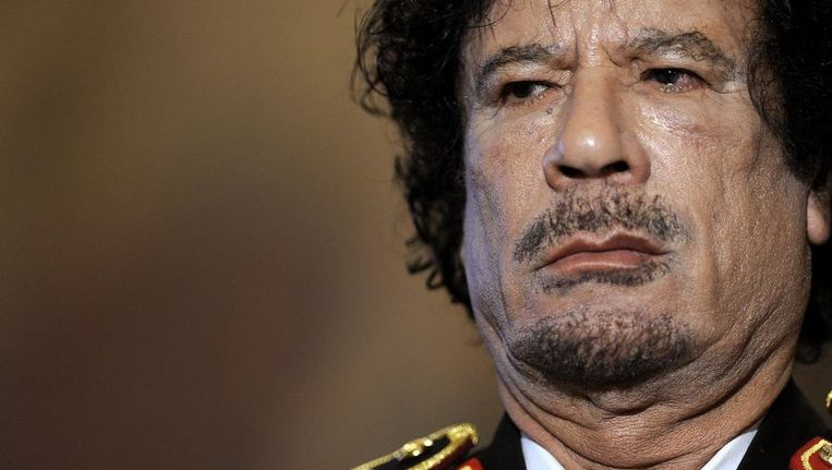 Muammar Kaddafi. Beeld null