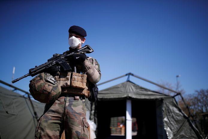Soldat français à Mulhouse