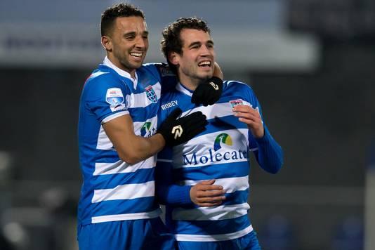 Dirk Marcellis (r) samen met Ouasim Bouy.