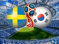 Reuzendoder Zweden opent WK tegen Zuid-Korea
