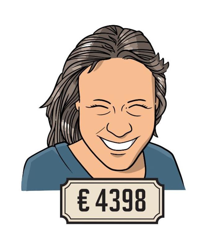 Gwendolynn (33) is docent Chinees en verdient 4398 euro bruto per maand.