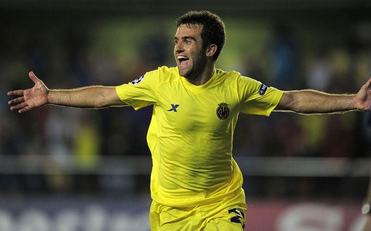 Giuseppe Rossi maakte het tweede doelpunt van Villarreal. Beeld afp