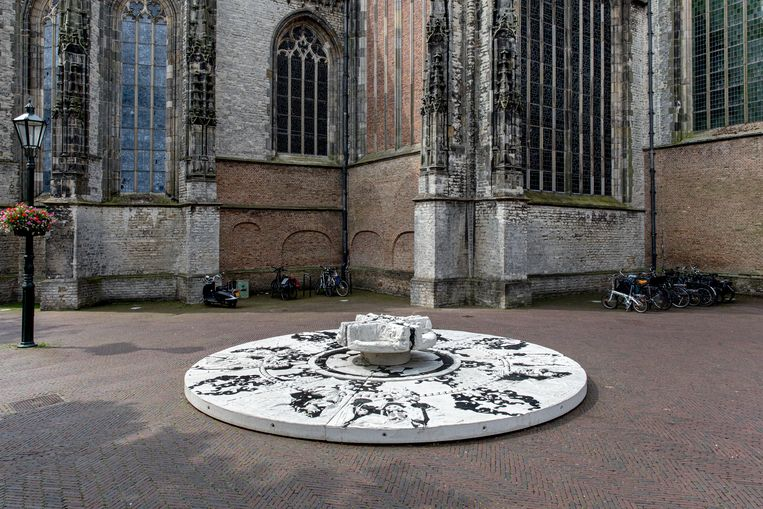 Echo, het kunstwerk van Nynke Koster in Delft.  Beeld Natascha Libbert