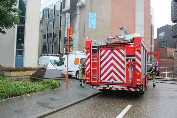 Brandweerpost Hasselt moest de brand in de hoogspanningscabine komen blussen