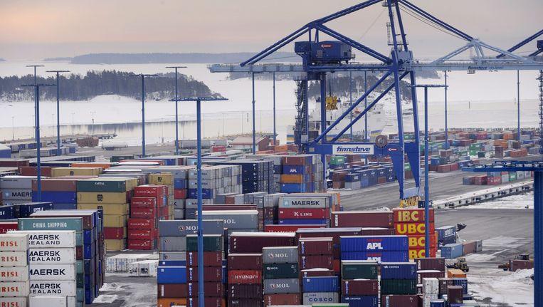 De haven van hoofdstad Helsinki.