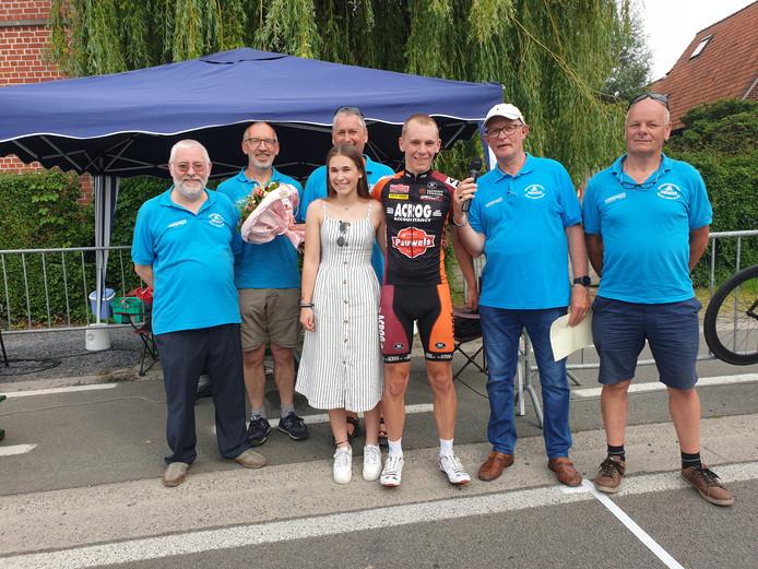 Arjan Poleij won zondag een Belgische koers