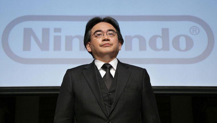 Satoru Iwata, topman van het Japanse Nintendo.
