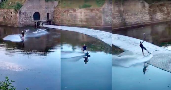 Waterskien op Ravelijn Bergen op Zoom Stills uit video