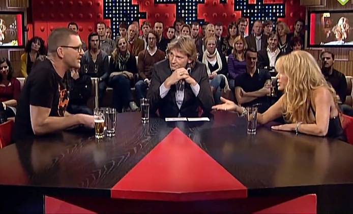 Theo Maassen en Patricia Paay in De Wereld Draait Door.