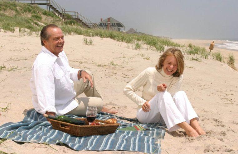 Jack Nicholson en Diane Keaton in Something's Gotta Give (2003) Beeld null