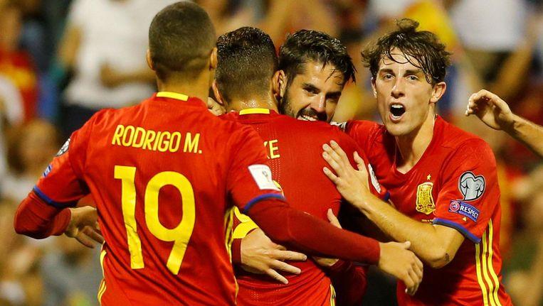 Isco tekende voor de 2-0 tegen Albanië.