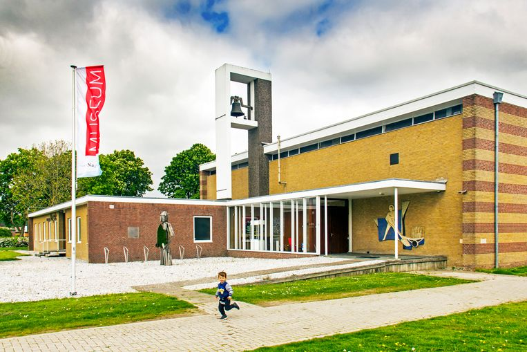 Museum Nagele is gehuisvest in de voormalige rooms-katholieke kerk Beeld Sander Groen