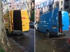 Le nouveau truc des camionnettes pour éviter l'amende de stationnement