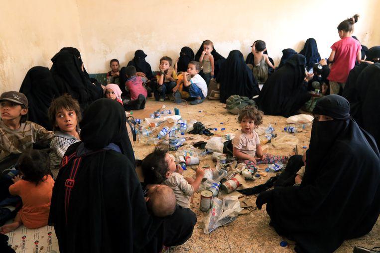 Familie van  IS-soldaten. Beeld Reuters