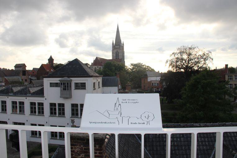 Vanop de nieuwe toren heb je een prachtig uitzicht over de stad.