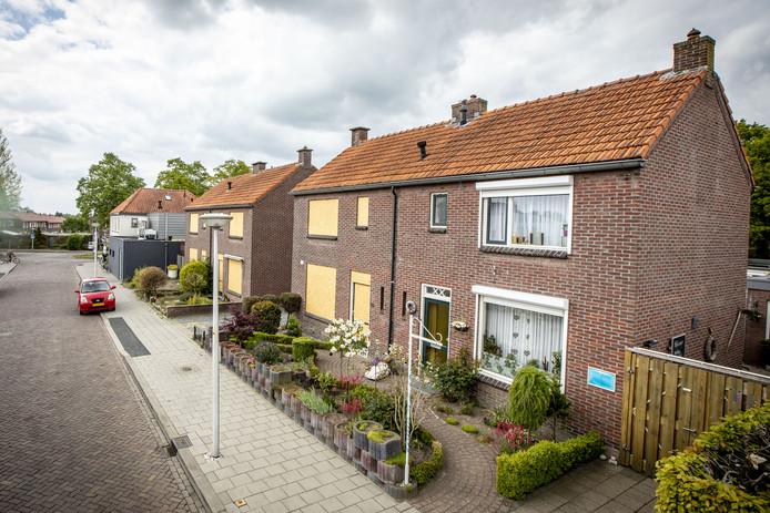 De WBO wil vier woningen aan de Glindestraat slopen.