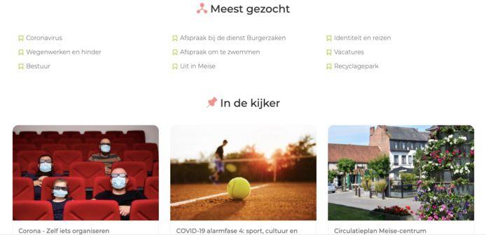 Zo ziet de nieuwe website eruit.