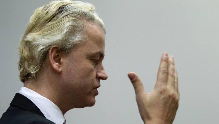 Wilders zal in 2011 ook weer vaak verontwaardigd zijn. Beeld null