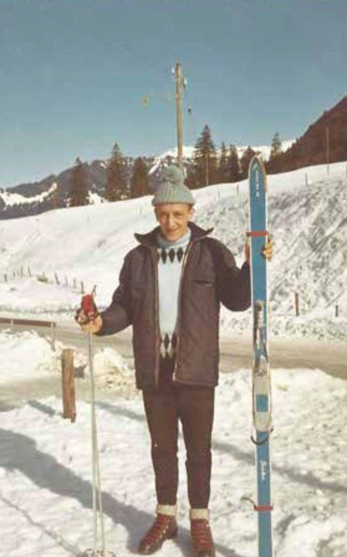 Als fervent skiër.