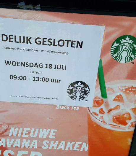 Werkzaamheden rond station Zwolle, geen koffie te krijgen