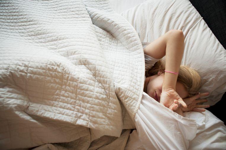 Er is nog veel onduidelijk over wat er zich 's nachts precies in je hoofd afspeelt. Beeld Getty Images/Tetra images RF