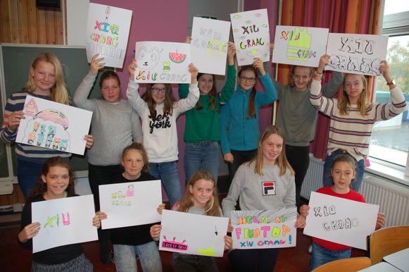 De jongeren gingen ook creatief aan de slag.