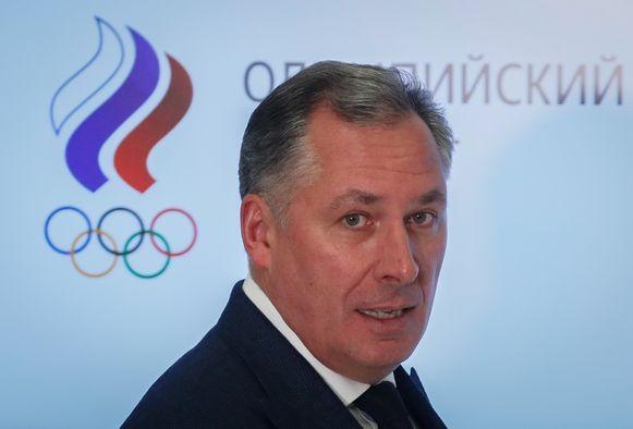 Stanislav Podznyakov, voorzitter van het Russiche Olympisch Comité (ROC).