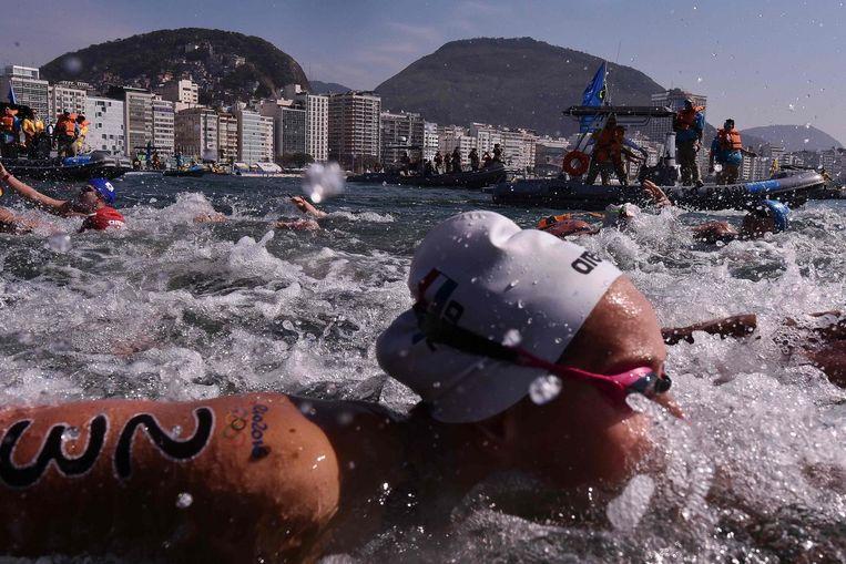 Sharon van Rouwendaal in Rio, op weg naar goud. Beeld AFP