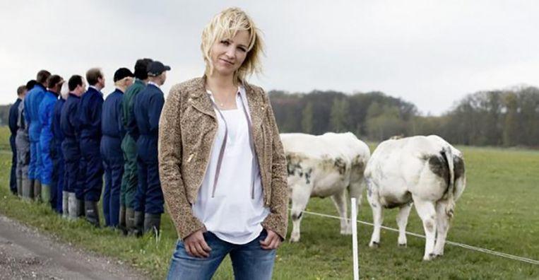In het KRO-programma Boer Zoekt Vrouw bezoekt Yvon Jaspers boeren die op zoek zijn naar de liefde. Beeld KRO