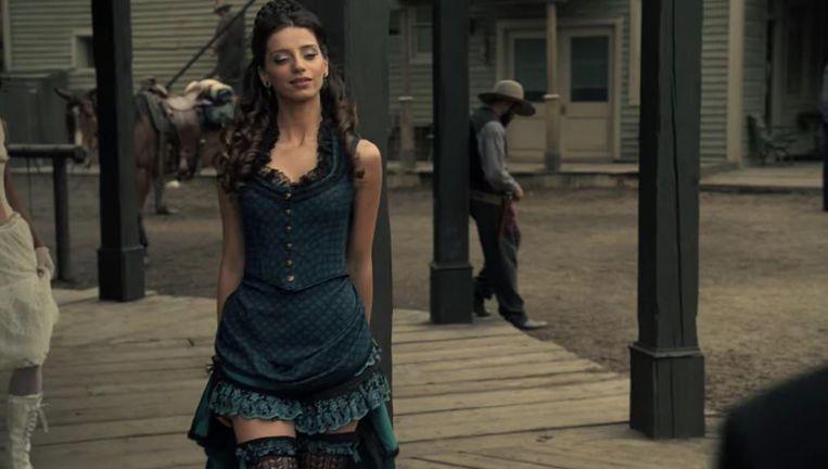 De HBO-serie Westworld speelt in een pretpark met cowboythema waar robots de wensen van bezoekers laten uitkomen Beeld HBO