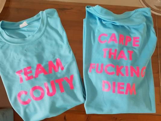 De shirts die Team Couty morgen zal dragen.
