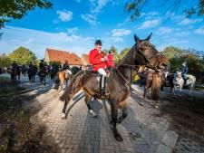 Tientallen paarden en pony's bij Hubertusrit in Harbrinkhoek