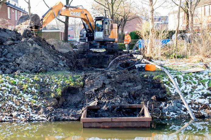 Werkzaamheden bij Poortambacht in Zierikzee.