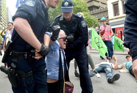 Ook in Sydney kwam het tot arrestaties.