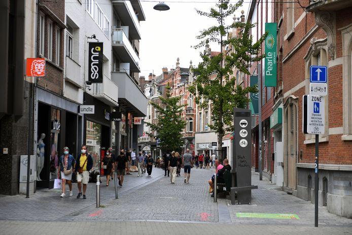 Illustratie winkelstraat Diestsestraat