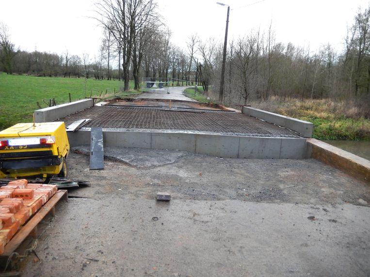 De werken schieten goed op, maar het is nog even wachten tot er asfalt gegoten kan worden.