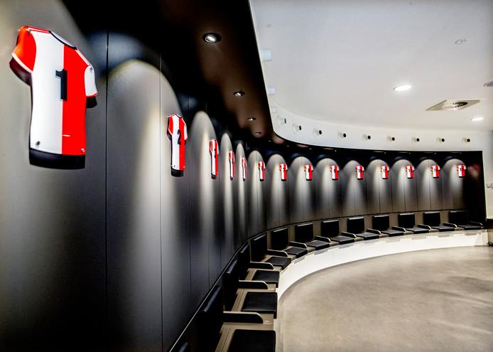 De ronde kleedkamer van Feyenoord.