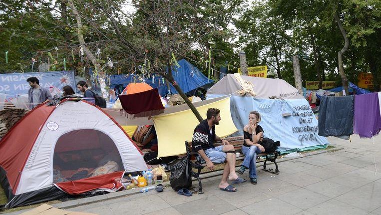 Het tentenkamp in Gezi Beeld epa