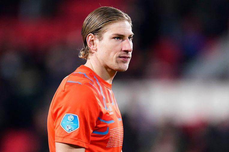 PSV-doelman Lars Unnerstall tijdens de thuiswedstrijd tegen FC Twente (1-1).  Beeld BSR Agency